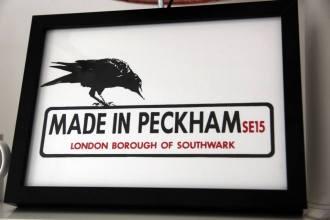 Made in Peckham Framed Print, small
