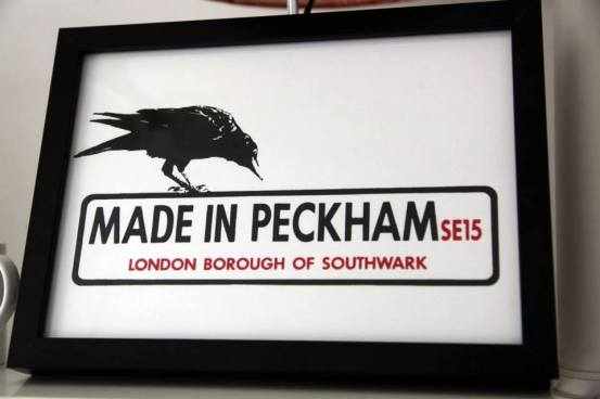 Made in Peckham Framed Print, small