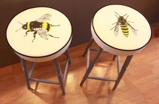 Wasp design screen print