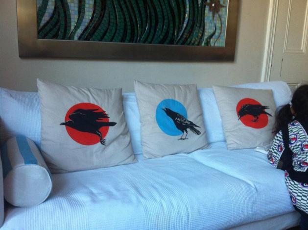 3 Corvid Cushions