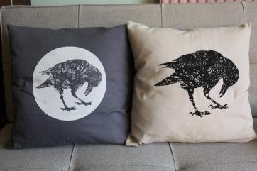 2 Corvid cushions